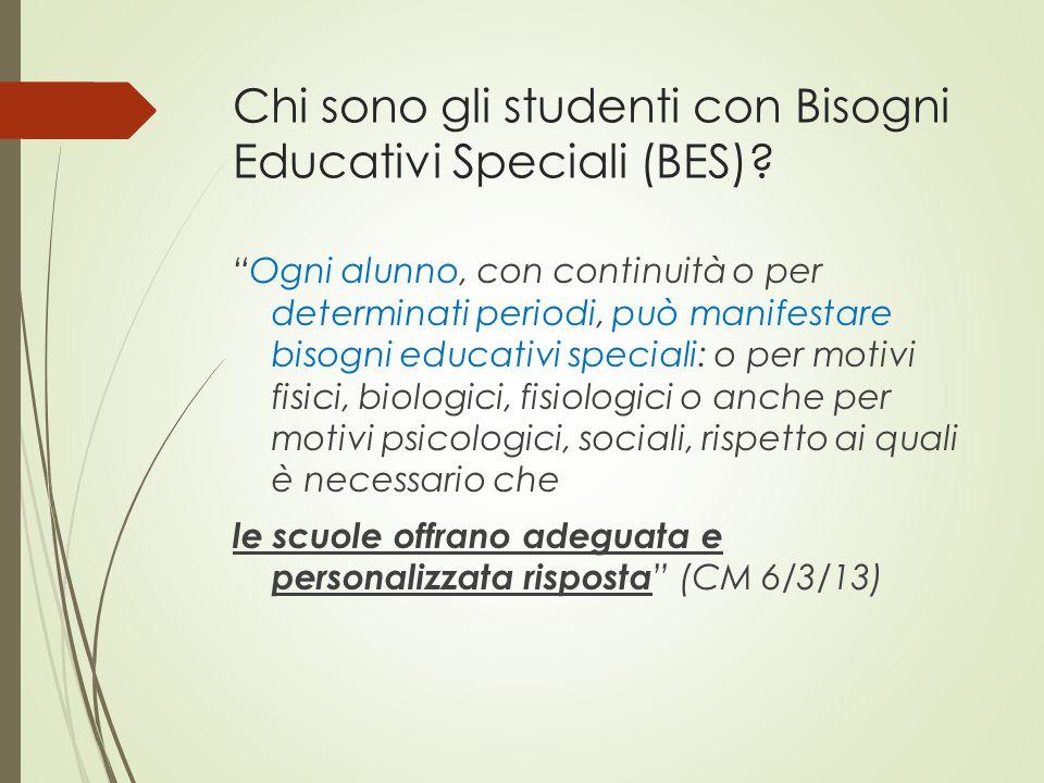 Chi sono gli studenti con Bisogni Educativi Speciali (BES)