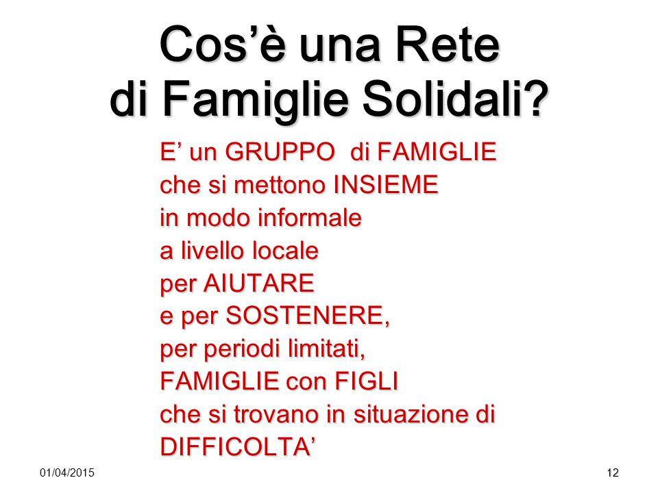 Cos'è una Rete di Famiglie Solidali