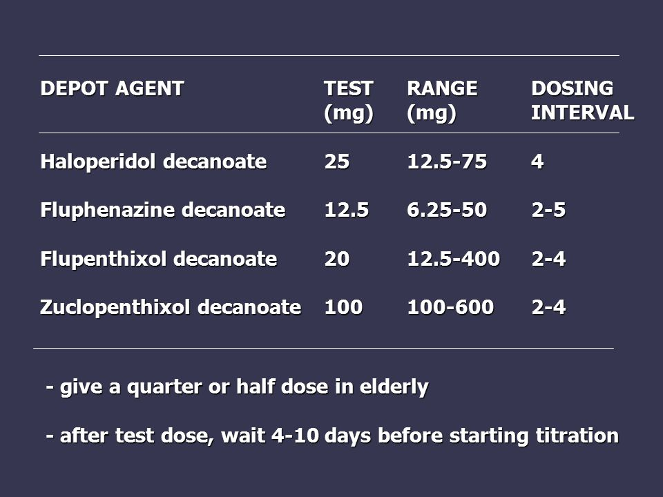 DEPOT AGENT TEST RANGE DOSING