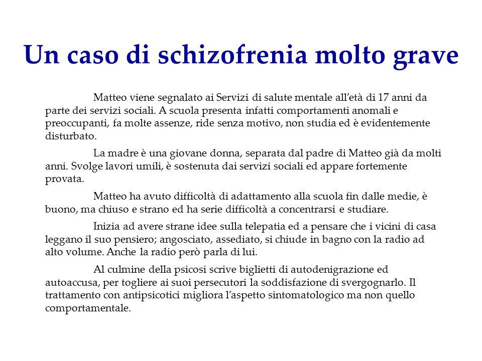 Un caso di schizofrenia molto grave
