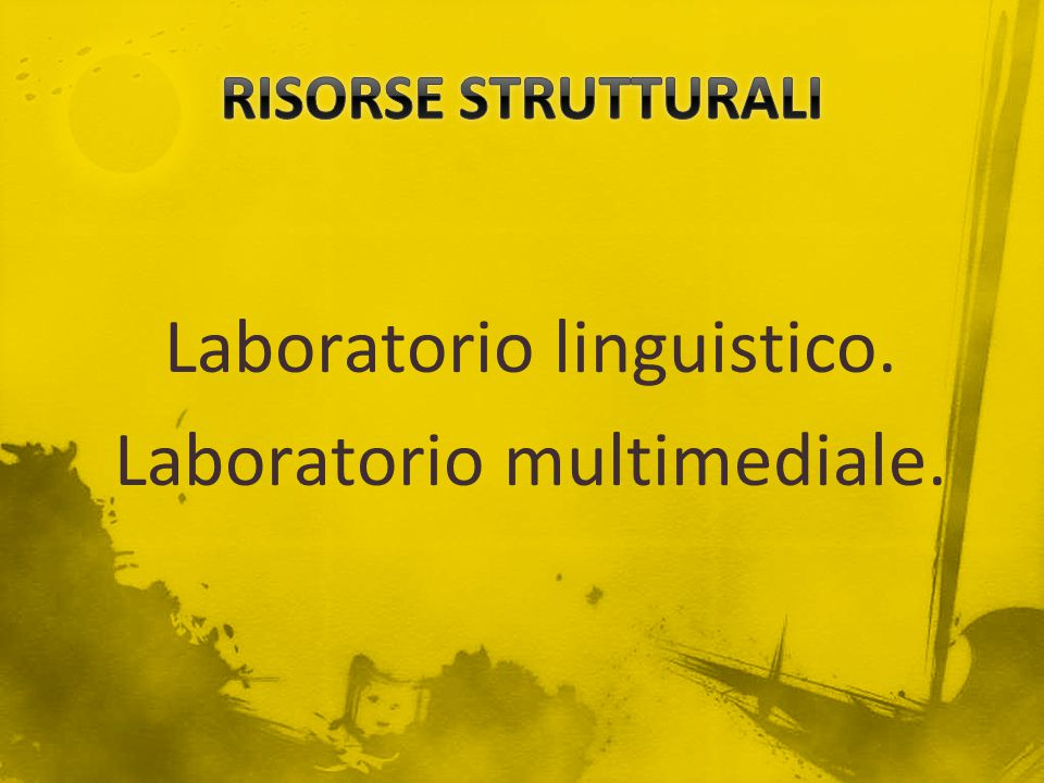 Laboratorio linguistico. Laboratorio multimediale.