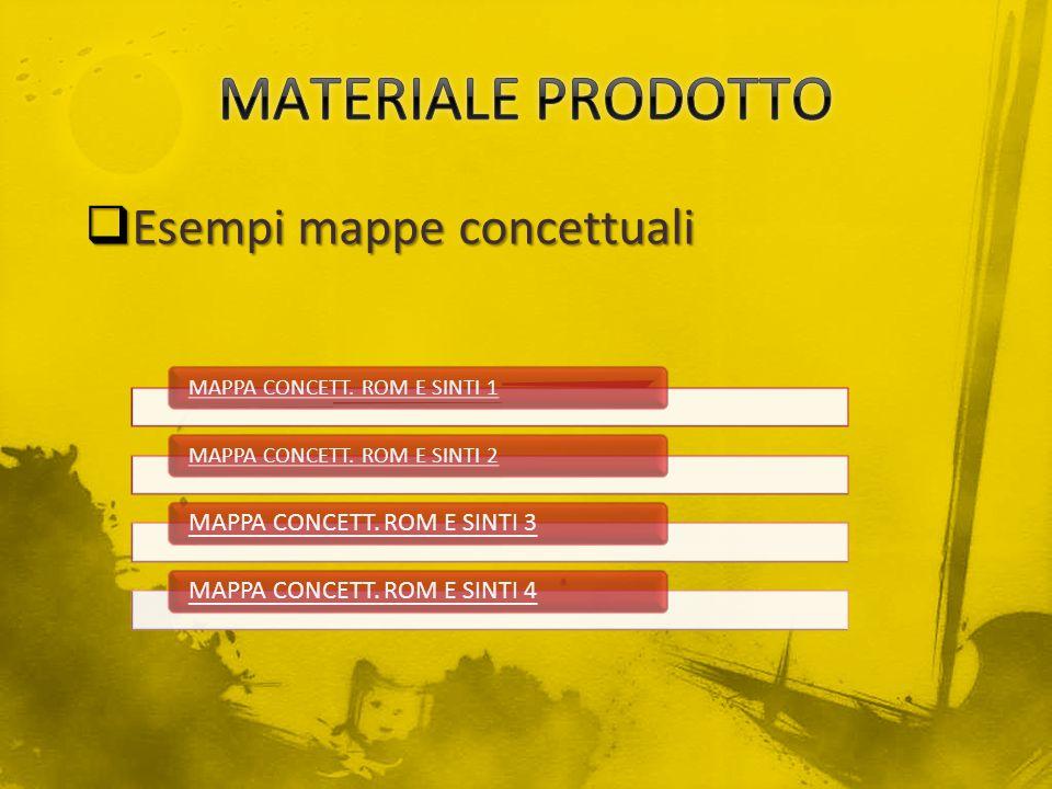 MATERIALE PRODOTTO Esempi mappe concettuali