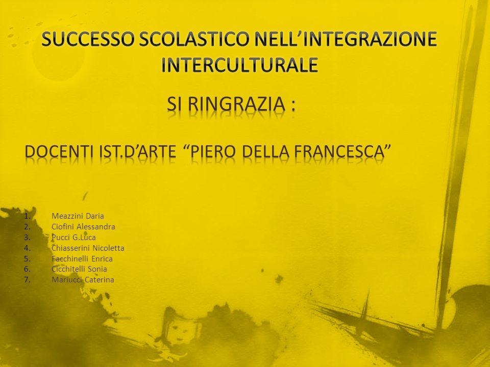 SUCCESSO SCOLASTICO NELL'INTEGRAZIONE INTERCULTURALE