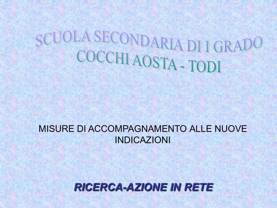SCUOLA SECONDARIA DI I GRADO COCCHI AOSTA - TODI