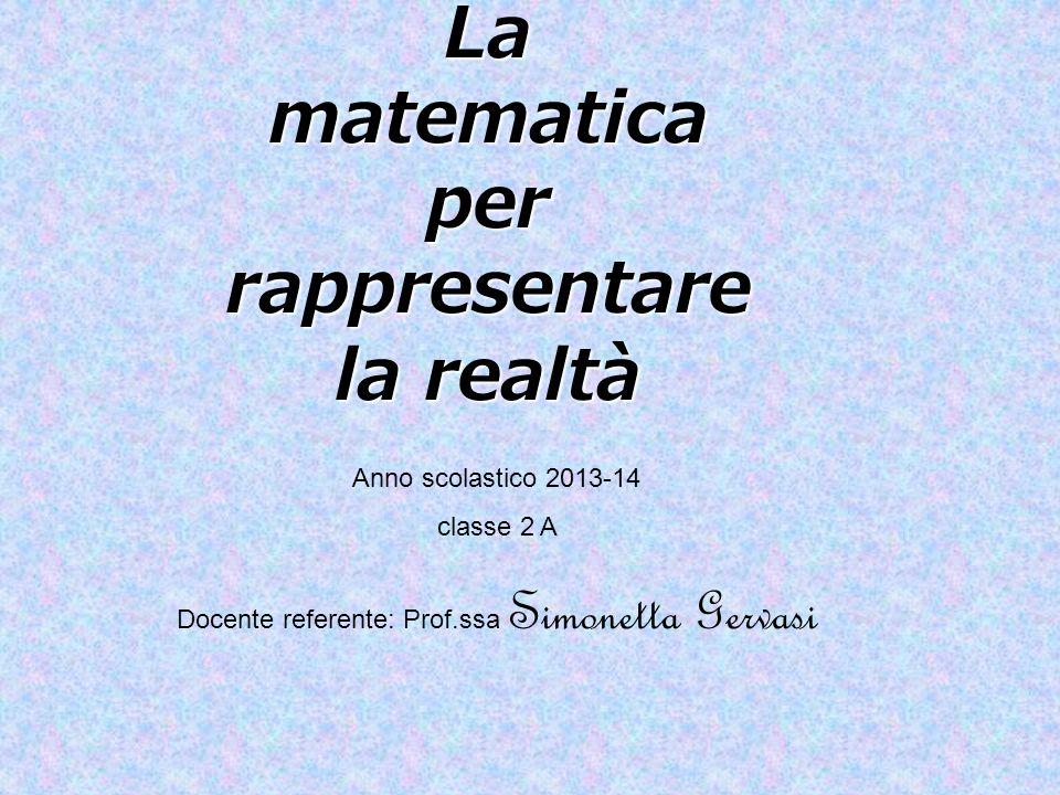 La matematica per rappresentare la realtà