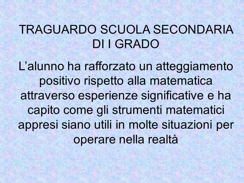 TRAGUARDO SCUOLA SECONDARIA DI I GRADO