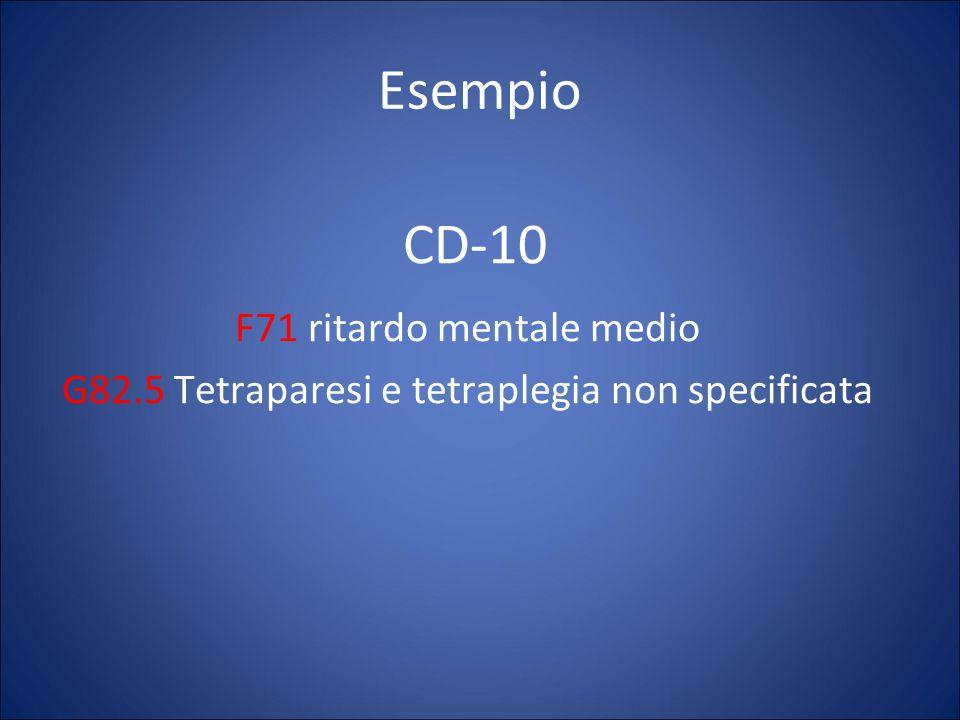 Esempio CD-10 F71 ritardo mentale medio