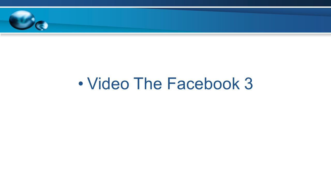 Video The Facebook 3