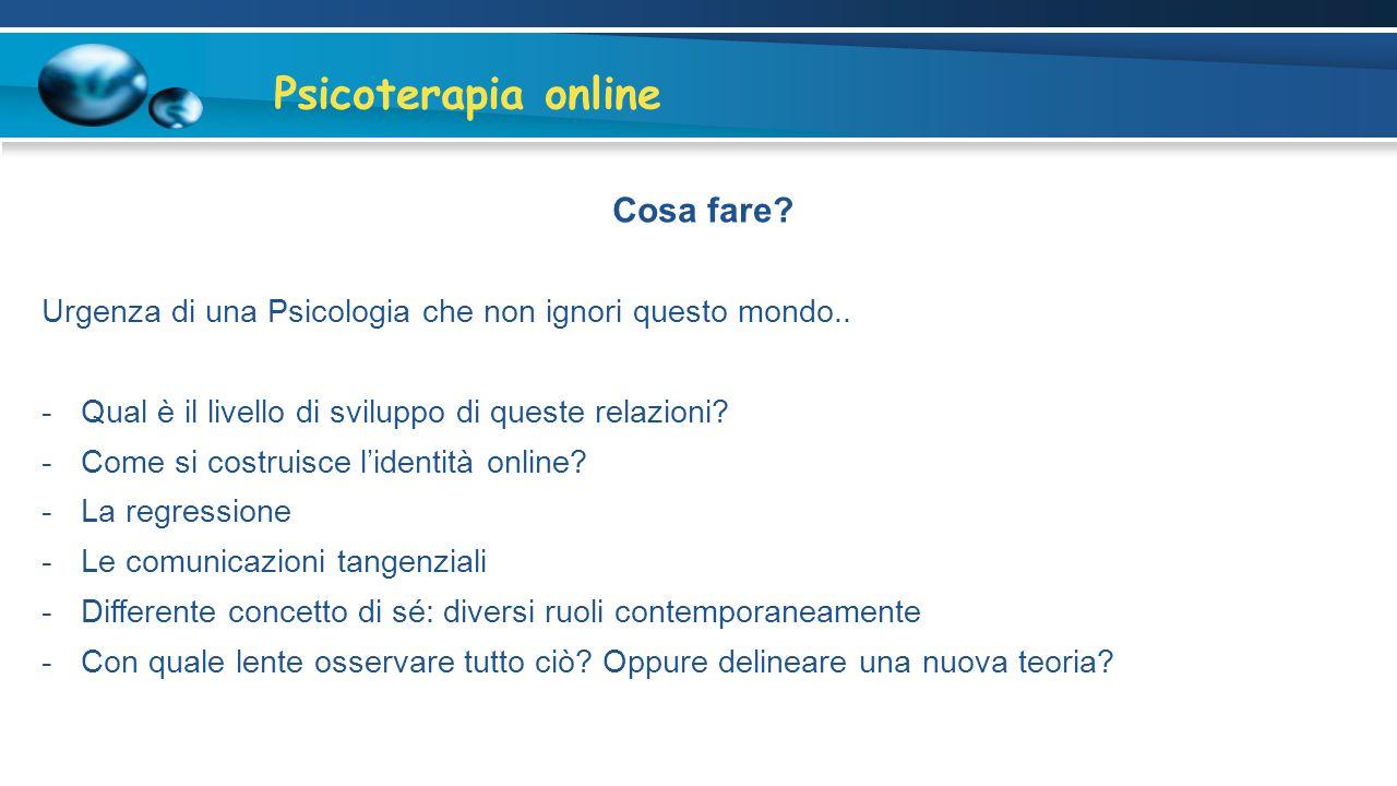 Psicoterapia online Cosa fare