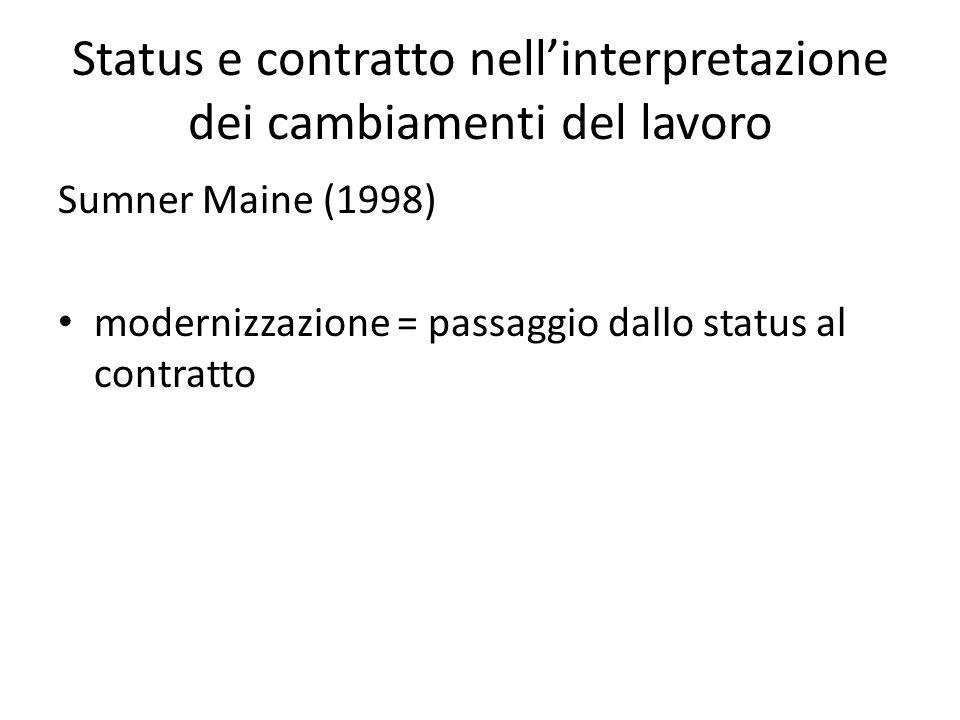 Status e contratto nell'interpretazione dei cambiamenti del lavoro