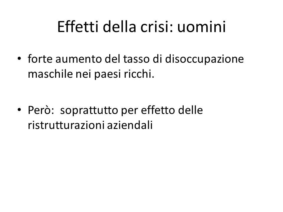 Effetti della crisi: uomini
