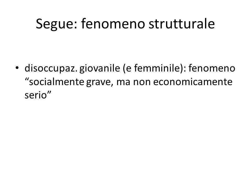 Segue: fenomeno strutturale
