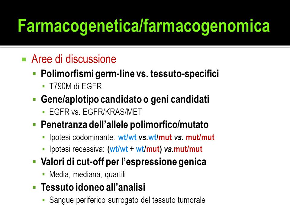 Farmacogenetica/farmacogenomica