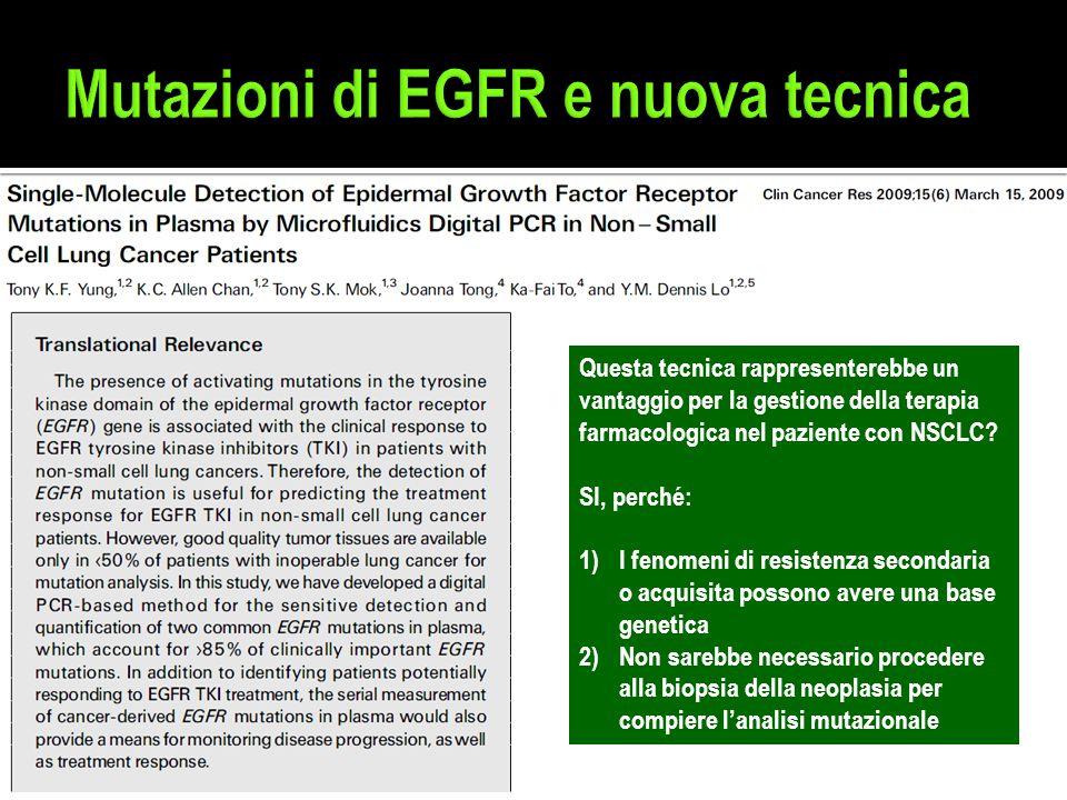 Mutazioni di EGFR e nuova tecnica