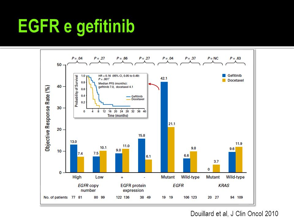 EGFR e gefitinib Douillard et al, J Clin Oncol 2010