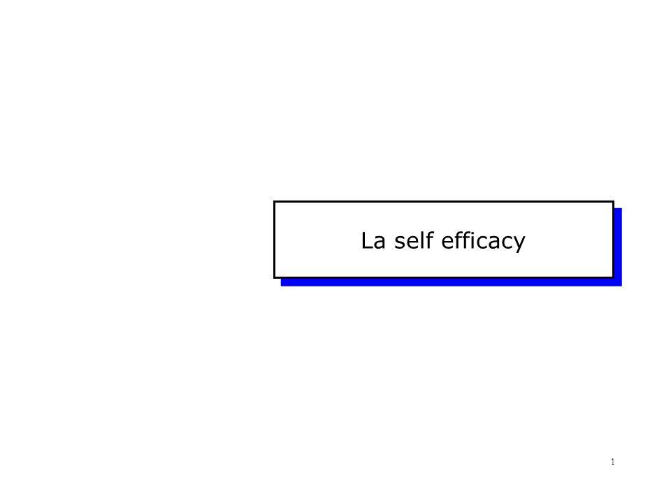 La self efficacy
