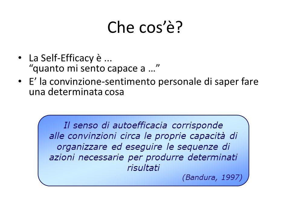 Il senso di autoefficacia corrisponde