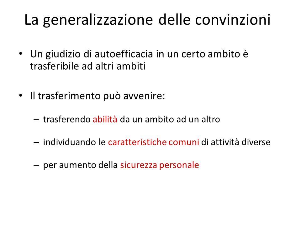 La generalizzazione delle convinzioni