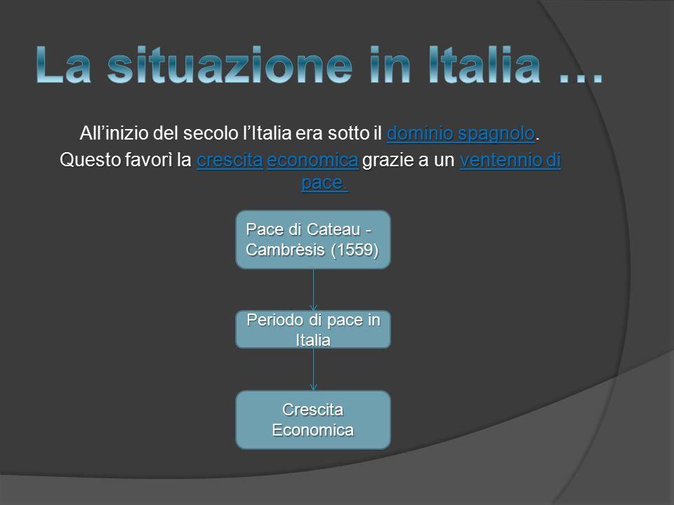 La situazione in Italia …