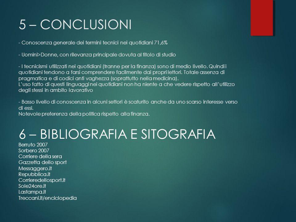 6 – BIBLIOGRAFIA E SITOGRAFIA
