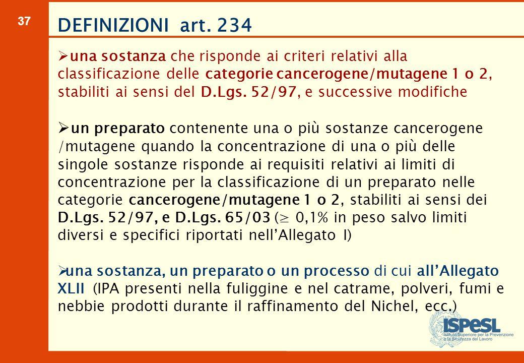 VALORI LIMITE DI ESPOSIZIONE PROFESSIONALE All.XLIII