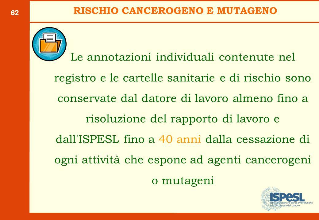 RISCHIO CANCEROGENO E MUTAGENO