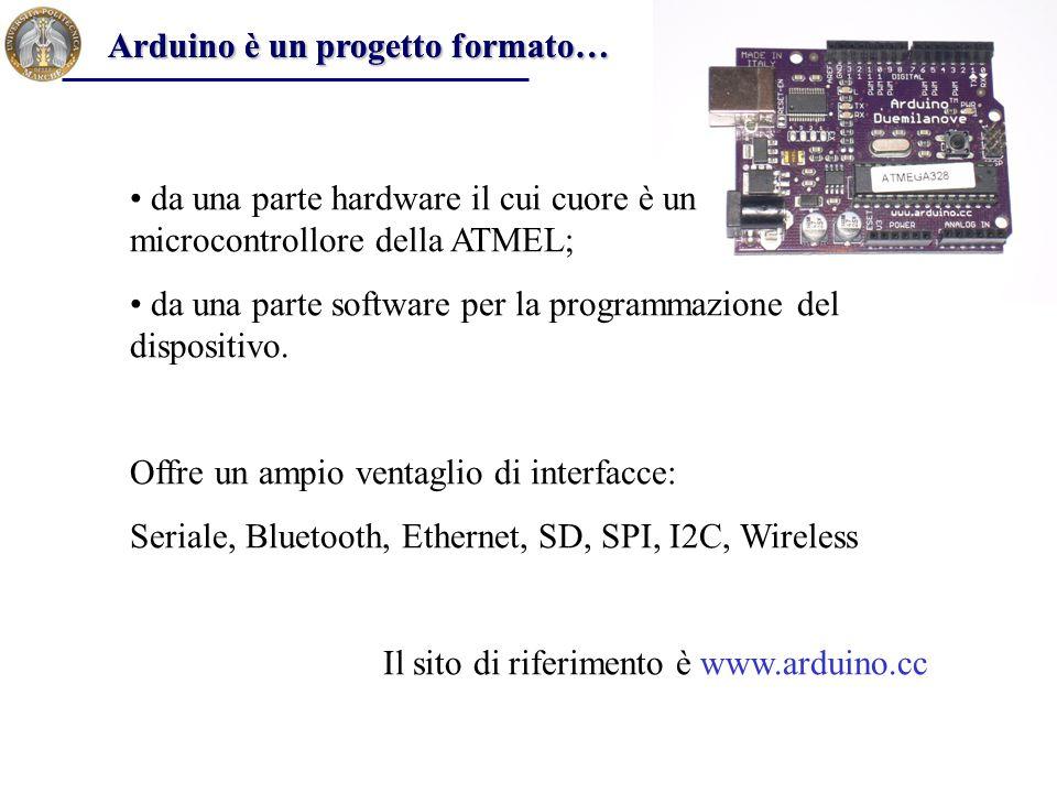 Arduino è un progetto formato…