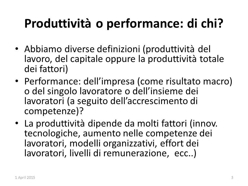 Produttività o performance: di chi