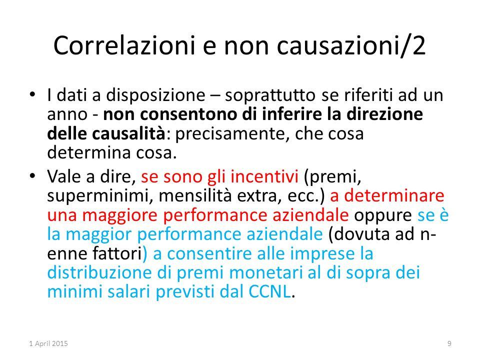 Correlazioni e non causazioni/2