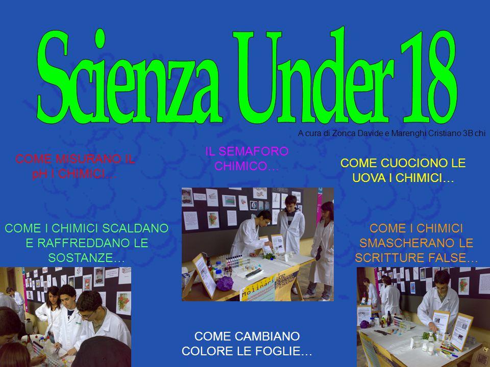 Scienza Under 18 IL SEMAFORO CHIMICO… COME MISURANO IL pH I CHIMICI…
