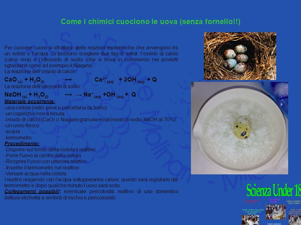 Come i chimici cuociono le uova (senza fornello!!)