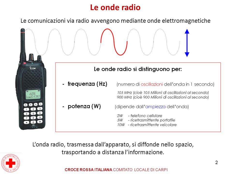 Le onde radio Le comunicazioni via radio avvengono mediante onde elettromagnetiche.