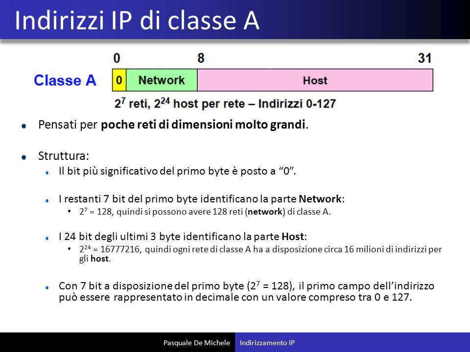 Indirizzi IP di classe A