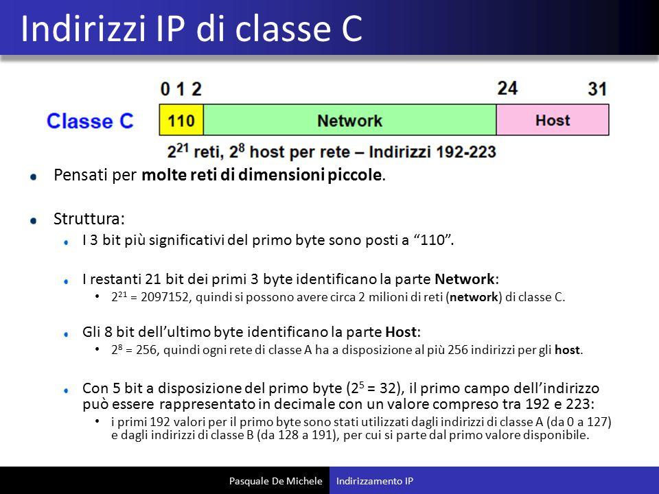 Indirizzi IP di classe C
