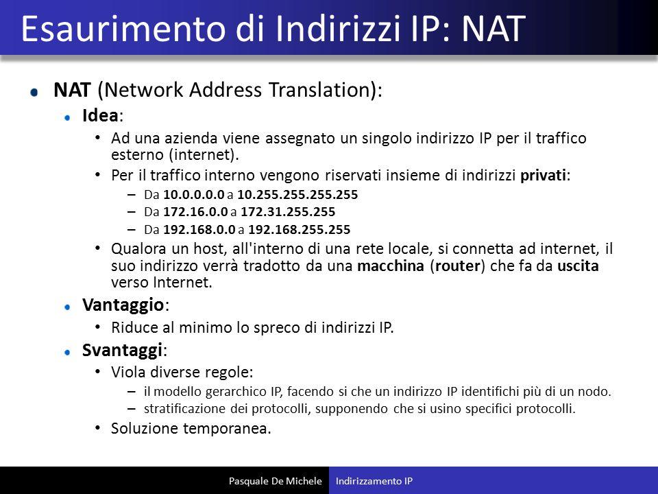 Esaurimento di Indirizzi IP: NAT