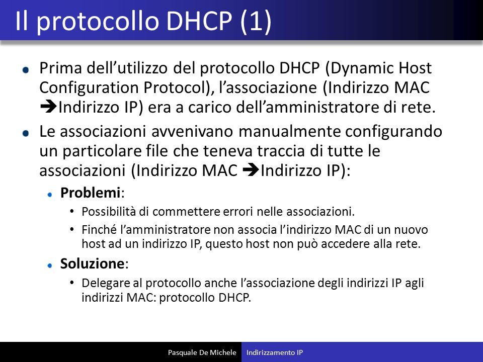 Il protocollo DHCP (1)