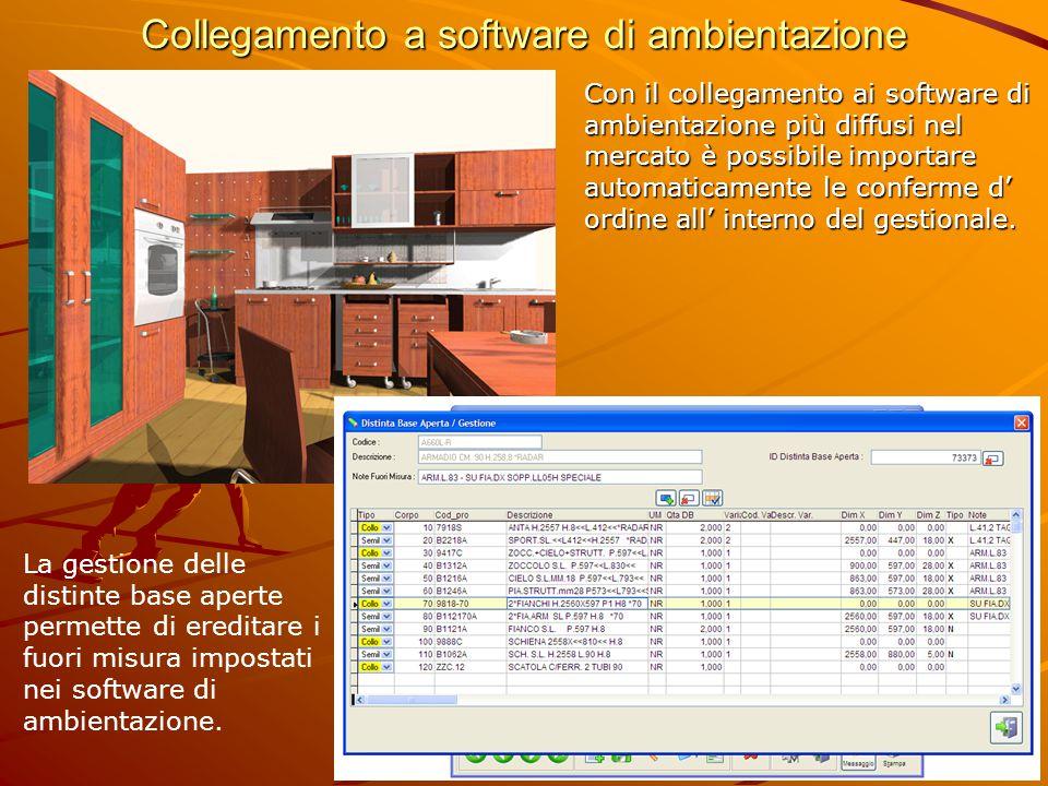 Collegamento a software di ambientazione