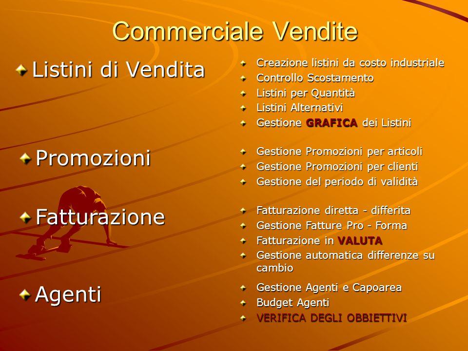 Commerciale Vendite Listini di Vendita Promozioni Fatturazione Agenti