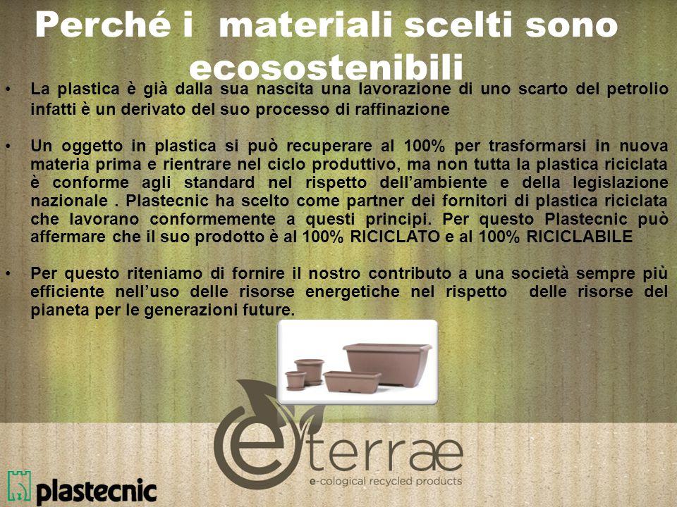 Perché i materiali scelti sono ecosostenibili