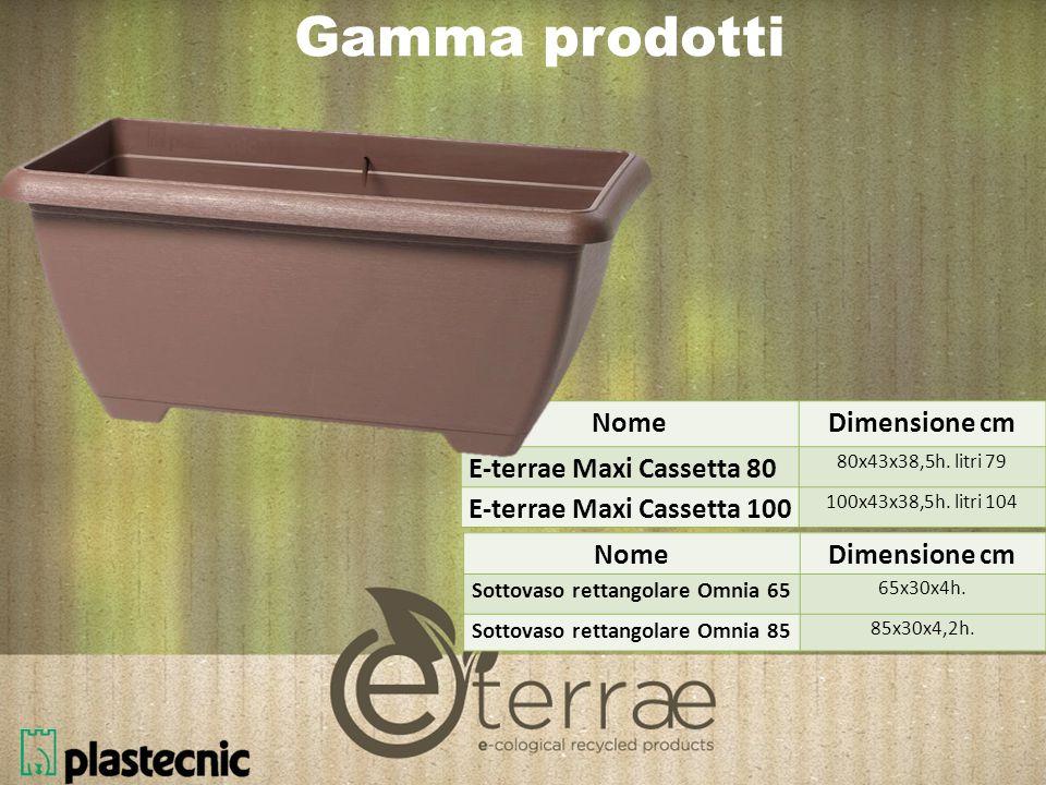 Gamma prodotti Nome Dimensione cm E-terrae Maxi Cassetta 80