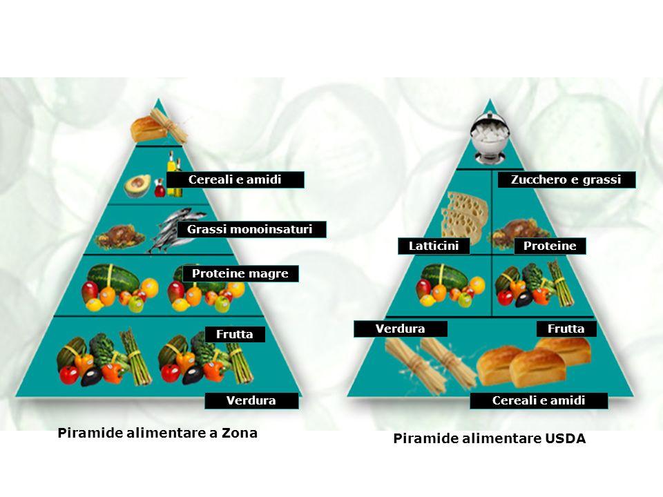 Piramide alimentare a Zona Piramide alimentare USDA