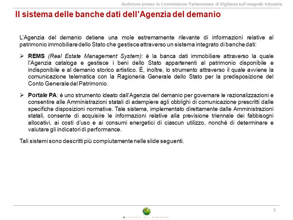 Il sistema delle banche dati dell'Agenzia del demanio