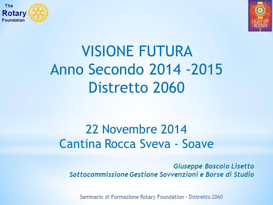 VISIONE FUTURA Anno Secondo 2014 -2015 Distretto 2060 22 Novembre 2014