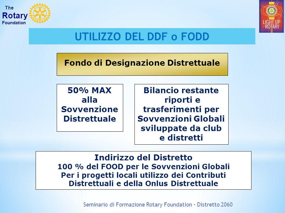 UTILIZZO DEL DDF o FODD Rotary Fondo di Designazione Distrettuale