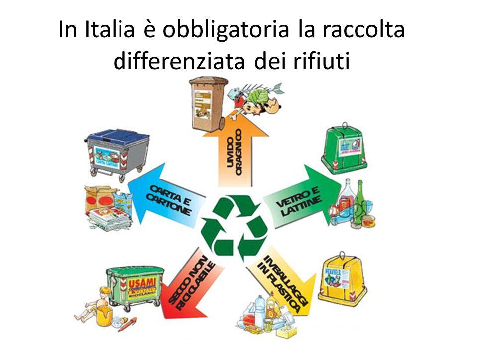 In Italia è obbligatoria la raccolta differenziata dei rifiuti