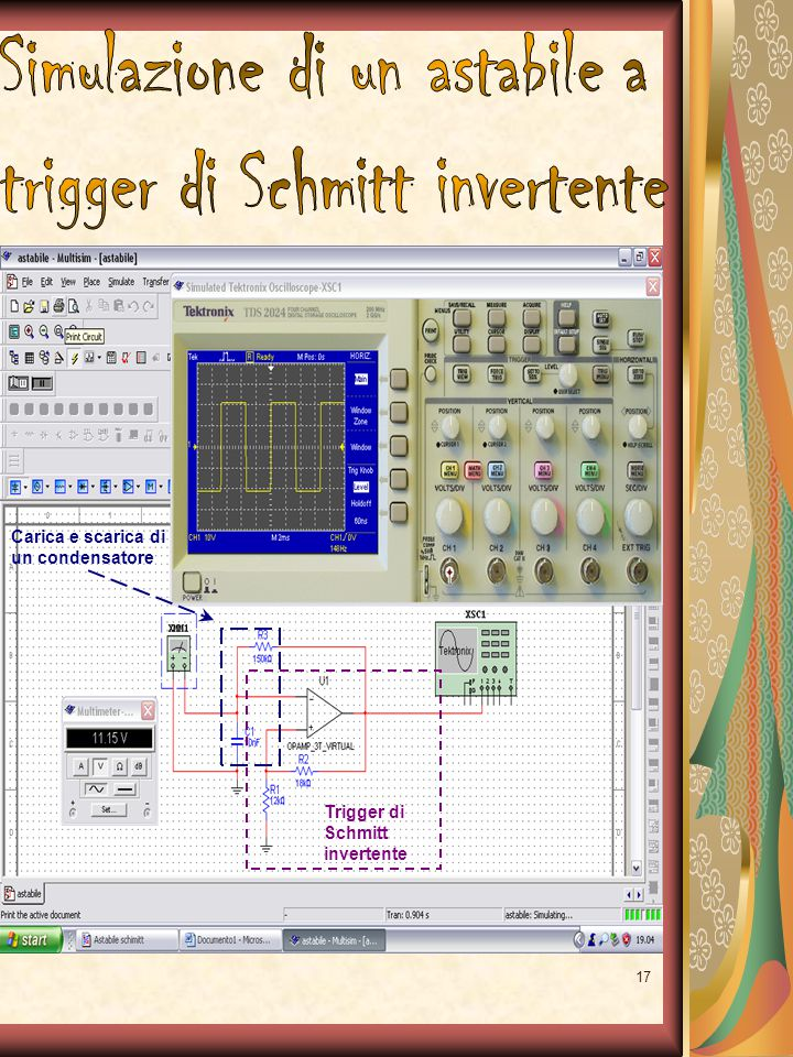 Simulazione di un astabile a trigger di Schmitt invertente