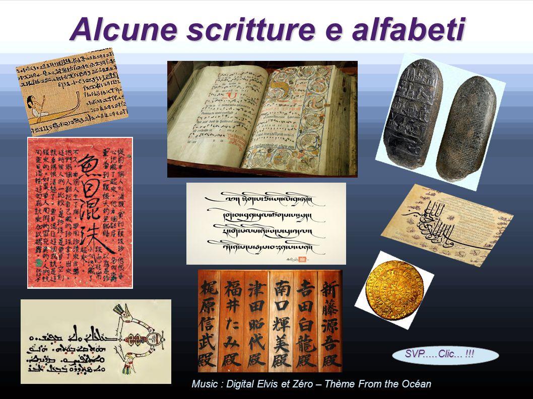 Alcune scritture e alfabeti