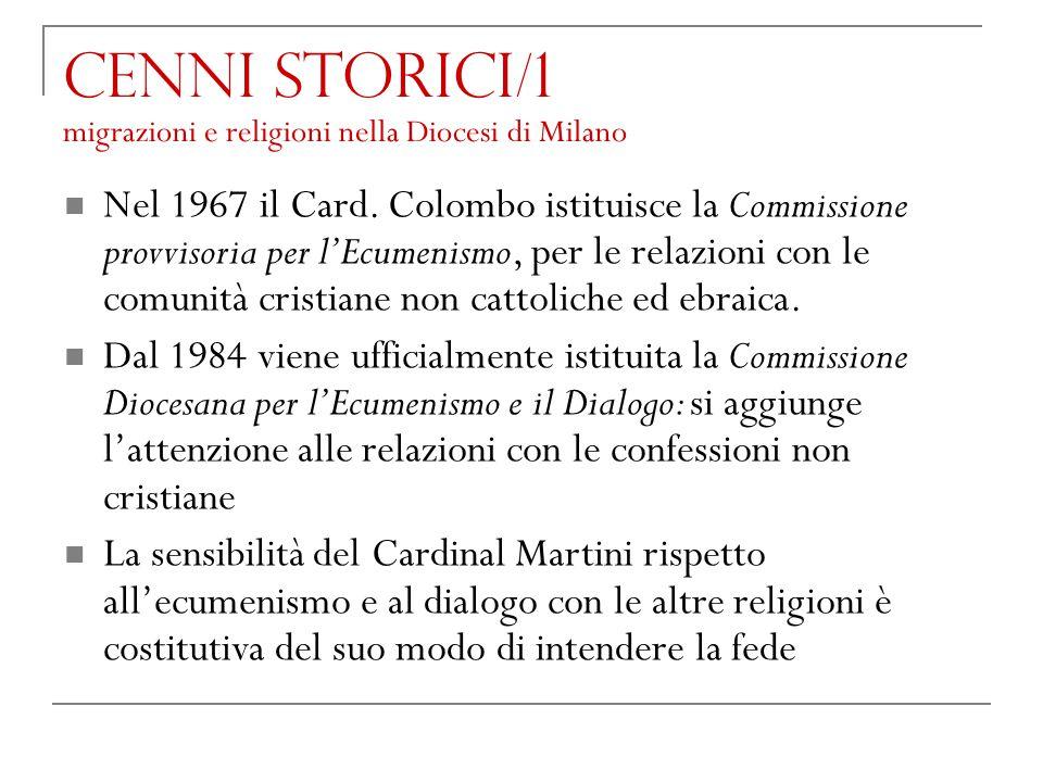 Cenni storici/1 migrazioni e religioni nella Diocesi di Milano