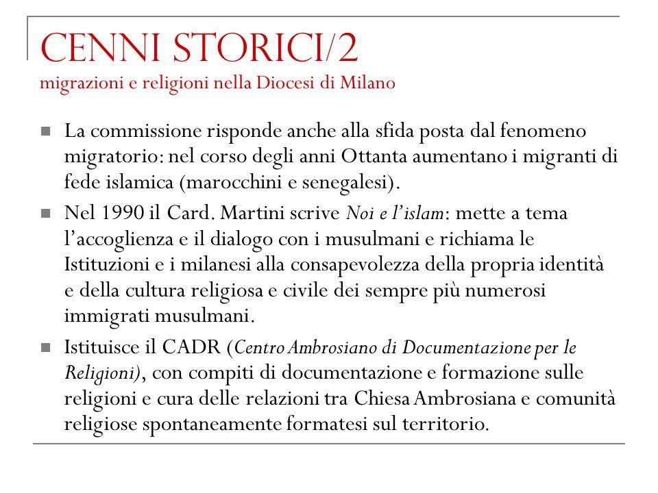 Cenni storici/2 migrazioni e religioni nella Diocesi di Milano