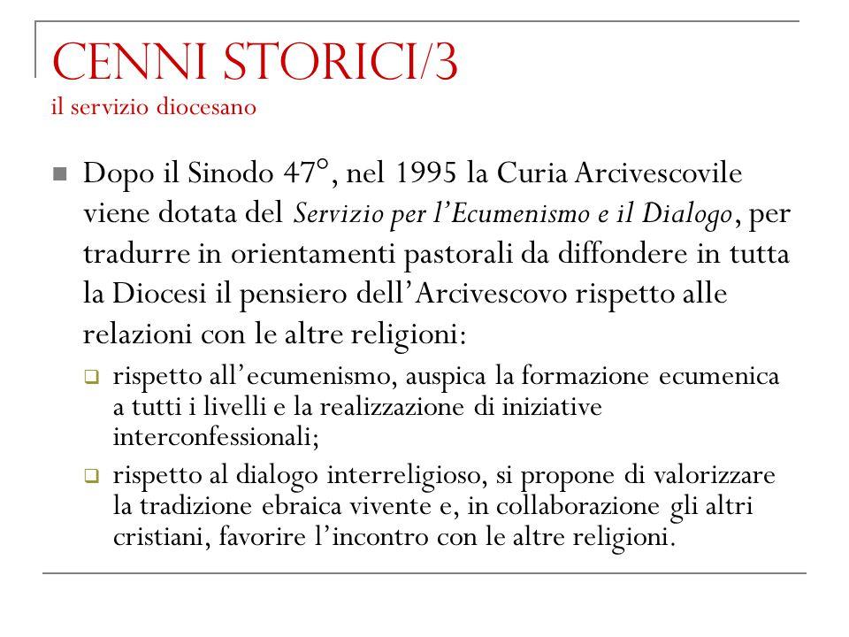 Cenni storici/3 il servizio diocesano